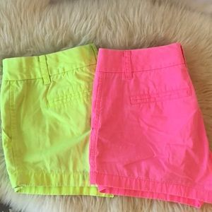 J. Crew Pair of Neon Shorts Size 4